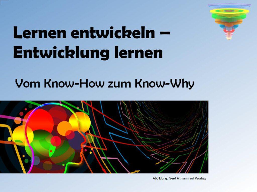 Vortrag Entwicklung und Lernen